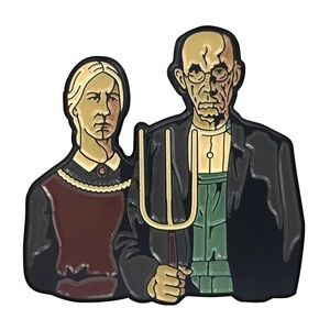 American Gothic Classic Painting Enamel Pin